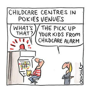 No Tax Breaks for Child Care in Pokie Venues