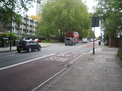 Pedestrian crossing on Shoot Up Hill