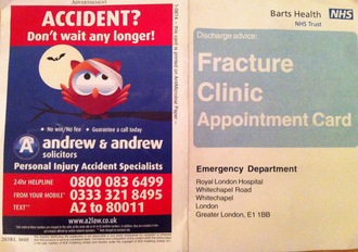No more injury claim adverts on NHS pamphlets