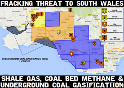 SAY NO TO FRACKING IN SOUTH WALES - BRIDGEND, PORTHCAWL + SURROUNDING AREAS
