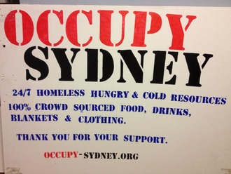 Stop the Illegal and Immoral Attacks on and Theft of Resources from The Occupy Sydney Protest Site.