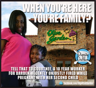 Olive Garden: Reinstate a pregnant employee who was unjustly terminated