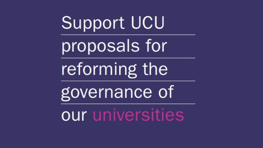 Support UCU proposals for reforming governance of our universities