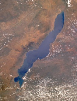 Lake malawi seen from orbit